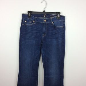 7 For All Mankind Short Inseam Bootcut Jeans 30